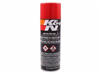 K&N AIR FILTER OIL, 6 1/2 OZ