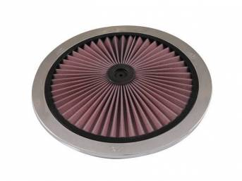 XTREME AIR FILTER TOP, K AND N, CHROME