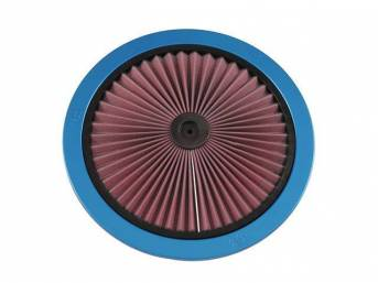 XTREME AIR FILTER TOP, K AND N, BLUE