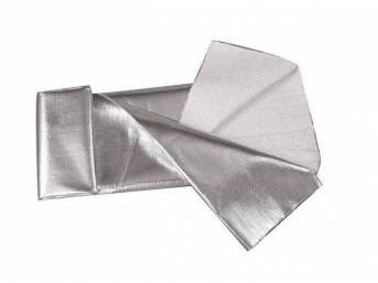 SHEET, Heat Screen, .060 Inch thick, 36 x 40 Inch rolled single sided sheet, aluminized mylar radiant matting withstands 2000 degrees of radiant heat