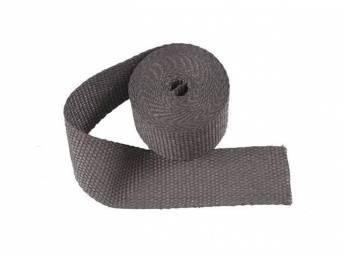 EXHAUST WRAP, Black, 2 Inch x 15 Foot roll, improves horsepower while adding durability and heat retention, withstands 1200 degrees of direct heat