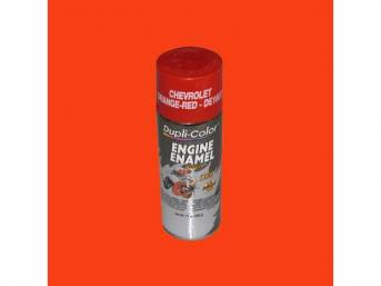 PAINT, ENGINE, CHEVROLET ORANGE / RED, DUPLICOLOR, 12 FLUID OUNCE SPRAY CAN