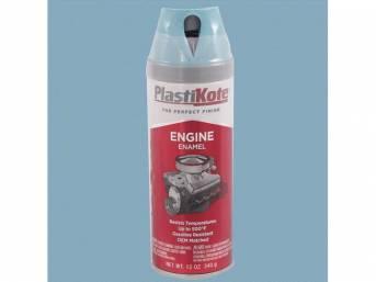 Engine Paint, 1959-1965 Pontiac Blue / Sky Blue, 12 fluid ounce spray can, Plastikote brand