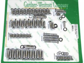 CHROME HARDWARE KIT, Engine, BBC w/ headers and