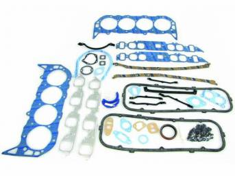 Gasket Kit, Engine, Fel Pro, PermaTorque material, Does Not Incl head bolts, exhaust pipe packing, special hipo option intake gaskets or double valve spring valve stem seals
