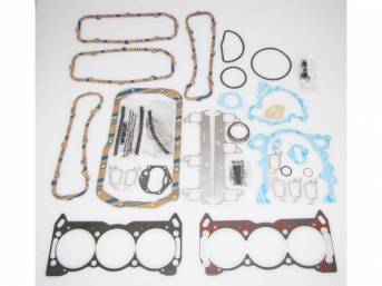 Gasket Kit, Engine, Fel Pro, PermaTorque material, does not incl intake manifold gasket or head bolts, premium valve stem seals incl