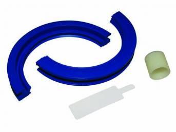 Gasket Set, Crankshaft / Rear Main, Fel Pro, 2 piece design, rubber