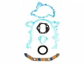 Gasket Set, Crankcase Front End Cover / Timing Cover, Fel Pro, Rubber