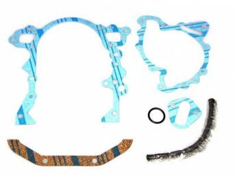 Gasket Set, Crankcase Front End Cover / Timing Cover, Fel Pro, Rope Seal