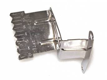 TAB, Timing Indicator w/ fixed pointer, fits 6 inch O.D., 7 inch O.D. and 8 inch o.d. balancers, chrome finished steel, Repro