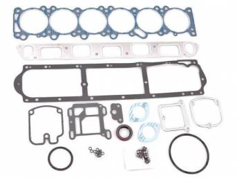 Gasket Set, Cylinder Head, Fel Pro, PermaTorque material, Incl Head and Valve Cover Gaskets and Valve Stem Seals