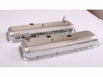 COVER SET, Valve, OE Style external Appearance W/ Spark Plug stands, W/ Baffles and Oil Drippers, Chrome Plated Steel, Repro