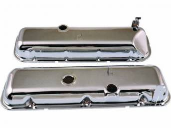 COVER SET, Valve, OE Style external Appearance W/ Spark Plug stands, W/ Baffles and Oil Drippers, Chrome Plated Steel, OER reproduction
