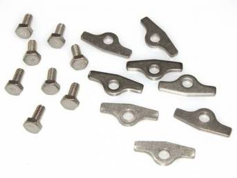 FASTENER KIT, Valve Cover (Steel), SBC, (16) Incl SS bolts and retainers, bolts have the wide style *TR* head markings