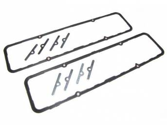 Gasket Set, Valve Cover, Fel Pro, PermaDryPlus material, 1 piece molded w/ steel core, re-usable