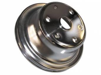 PULLEY, Crankshaft, single groove, 6.875 inch o.d., chrome