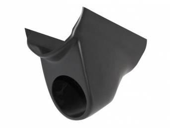 GAUGE HOLDER, Inner Pillar, Auto Meter, Single, black ABS-plastic (paintable to match interior colors)