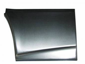 REPAIR PANEL, Lower Quarter, Front of well, RH, 12 inch height x 17 inch length, Repro