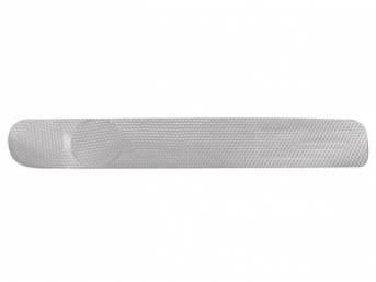 INSERT, Instrument Panel, vinyl, machine-turned aluminum look finish,