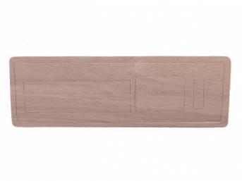 INSERT, Instrument Panel Trim Plate, Heater Control, walnut