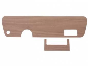 INSERT, Instrument Panel Trim Plate, walnut veneer wood
