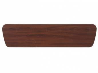 INSERT, Instrument Panel Cluster, vinyl veneer walnut grain wood finish overlay, repro