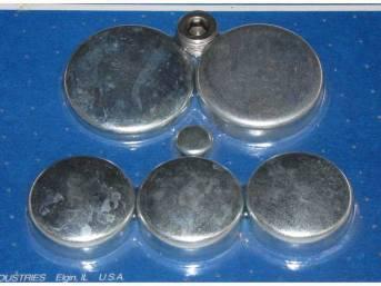 FREEZE PLUG SET, Zinc-Plated Steel, Incl Freeze Plugs,
