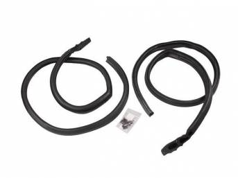 WEATHERSTRIP SET, Roof Side Rail, w/ Studs, firmer than p/n C-10721-103A, *Precision* repro