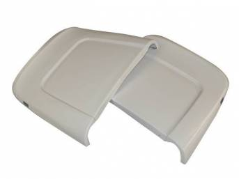 PANEL SET, Bucket Seat Back, White (actual color is off white), ABS-Plastic w/ chrome mylar trim and bullet caps, repro