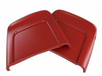 PANEL SET, Bucket Seat Back, red, ABS-Plastic w/ chrome mylar trim and bullet caps, repro