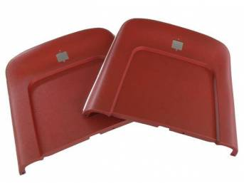 PANEL SET, Bucket Seat Back, red, ABS-Plastic w/ chrome mylar trim, repro