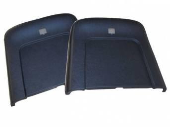 PANEL SET, Bucket Seat Back, dark blue, ABS-Plastic w/ chrome mylar trim, repro