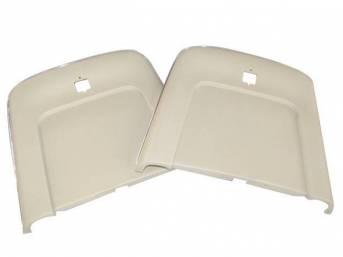 PANEL SET, Bucket Seat Back, sandalwood, ABS-Plastic w/ chrome mylar trim, repro
