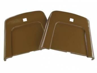 PANEL SET, Bucket Seat Back, dark saddle, ABS-Plastic w/ chrome mylar trim, repro