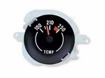 GAUGE, Coolant / Water Temperature, WHITE MARKINGS AND