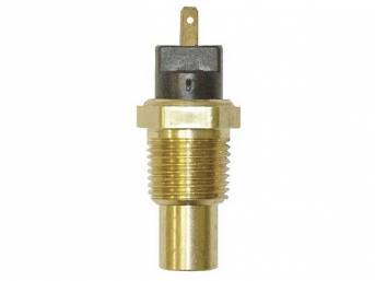 SENDER, Coolant / Water Temperature, 1/2 inch-14, reqs a 56 series female terminal and connector, repro