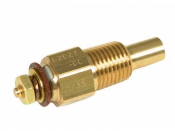 SENDER, Coolant Temperature, Classic Instruments, 1/4 inch NPT, self-sealing tapered threads, for use w/ Classic Instruments gauges only