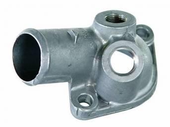 OUTLET, Coolant / Water Neck, gasket style, aluminum,