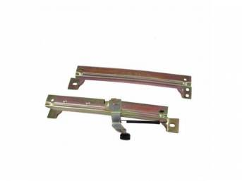 Front Seat Slide Adjuster, RH, manual style, repro