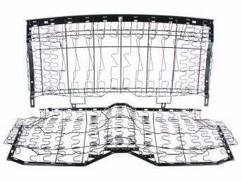 FRAME ASSY, Rear Seat, incl back and bottom w/ springs, measures 53 inches width, repro