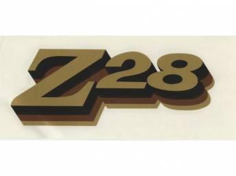 DECAL, Spoiler, *Z/28*, Gold, Repro