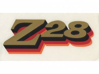 DECAL, Spoiler, *Z/28*, Red / Orange / Gold, Repro
