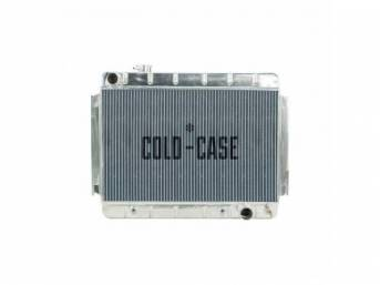 RADIATOR, Down Flow, Aluminum, 2 row, Cold Case,