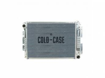 Cross Flow Aluminum Radiator, OE style, 2 row, Cold Case