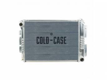RADIATOR, Cross Flow, Aluminum, 2 row, Cold Case,