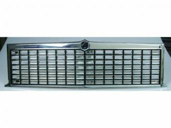 GRILLE, Radiator, Black and Chrome, Repro