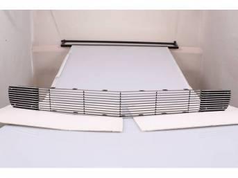 Grille Kit, Radiator, Billet, Incl Center grille and