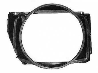 SHROUD, Radiator Fan, 29 3/4 inch length x 23 1/2 inch height x 4 inch depth, 2 Piece Repro