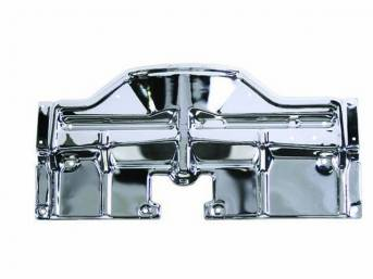 PANEL, Radiator Upper Mounting and Fan Guard, chrome finish, repro
