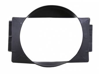 SHROUD, Radiator Fan, plastic, 20 1/8 inch height x 20 1/2 inch width (fan opening), 20 1/8 inch height x 28 3/4 inch width x 5 1/4 inch depth (total size)